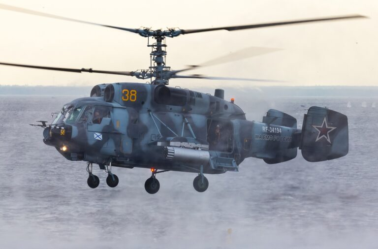 Russian Navy's Pacific Fleet has received six new Ka-29 helicopters