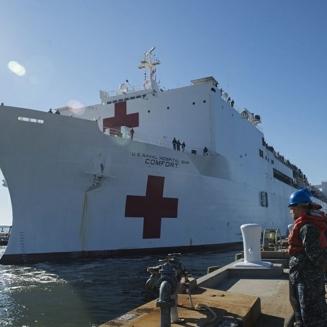 USNS Comfort returned to Naval Station Norfolk afternoon providing life-saving medical care to the people of Puerto Rico.