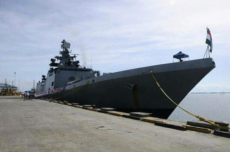 INS Satpura portvisit to Muara Port-Brunei