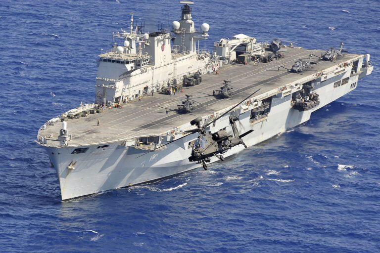 HMS Ocean arrives home after NATO and humanitarian relief operations