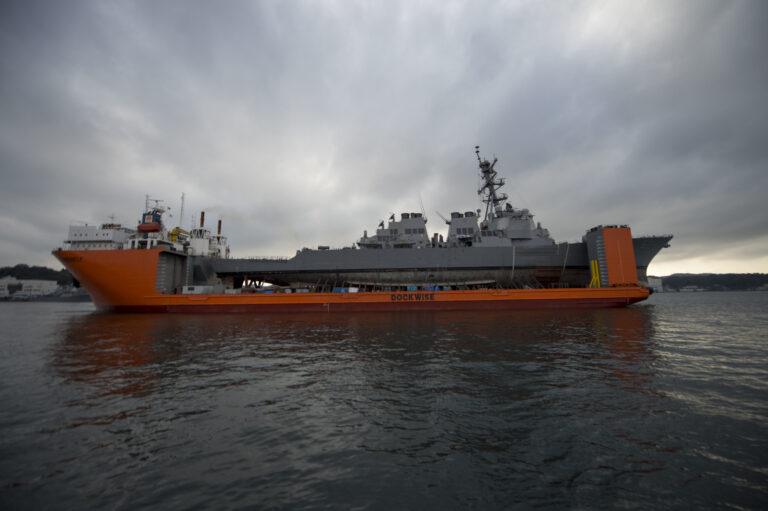 USS Fitzgerald departs Yokosuka for Pascagoula