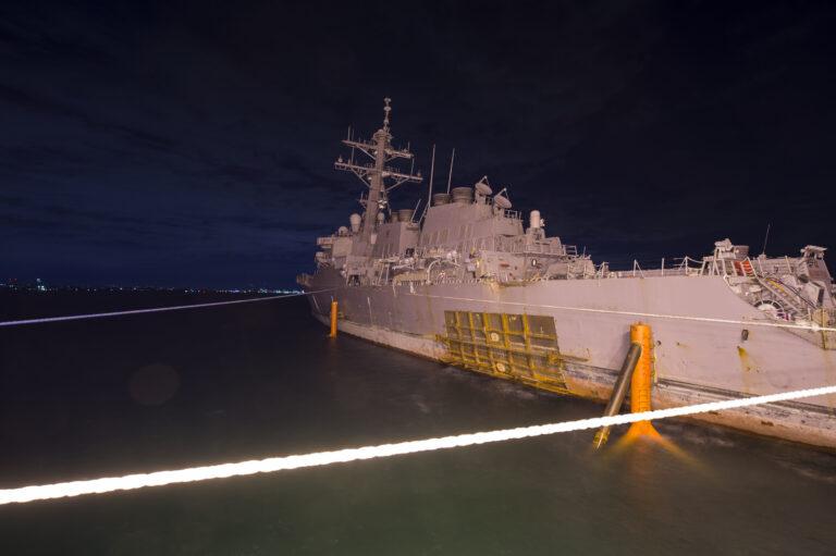 USS John S McCain Returns to Fleet Activities Yokosuka