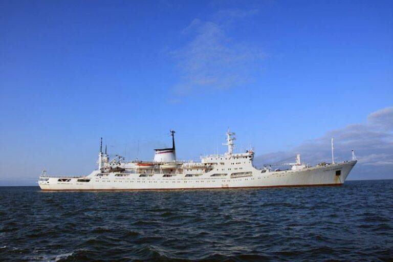 Russian Oceanographic research ship Admiral Vladimirsky, Baltic Fleet, enters Mediterranean