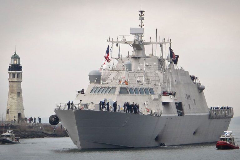The U.S. Navy commissioned USS Little Rock (LCS 9).