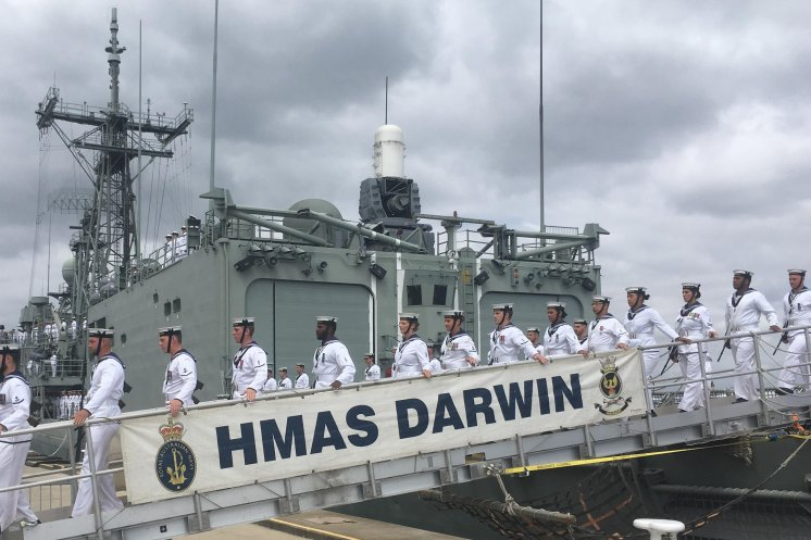 The Royal Australian Navy farewells HMAS Darwin after 33 years of service