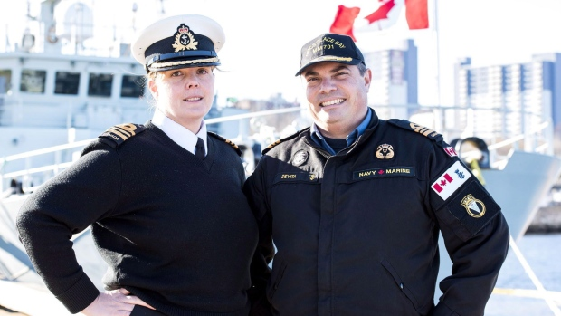Couple makes Canadian naval history for commanding same warship