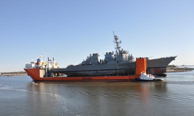 USS Fitzgerald Arrives in Pascagoula for Restoration