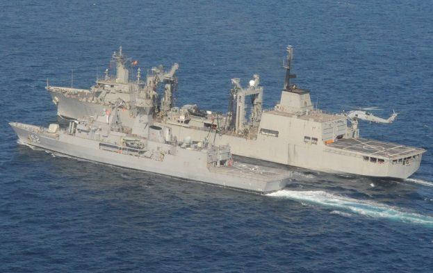 ESPS Patiño conducted RAS with Australian and Pakistani Warship