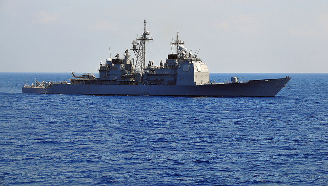 USS Lake Champlain (CG 57) departs for Western Pacific deployment