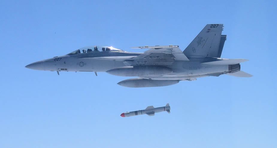 Harpoon Block II+ anti-ship missile completes operational test shot.