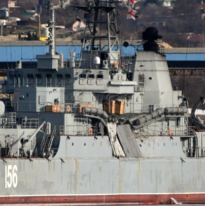 Russian Navy landing ship Yamal collided with Sierra Leone-flagged container ship M/V Orca 2