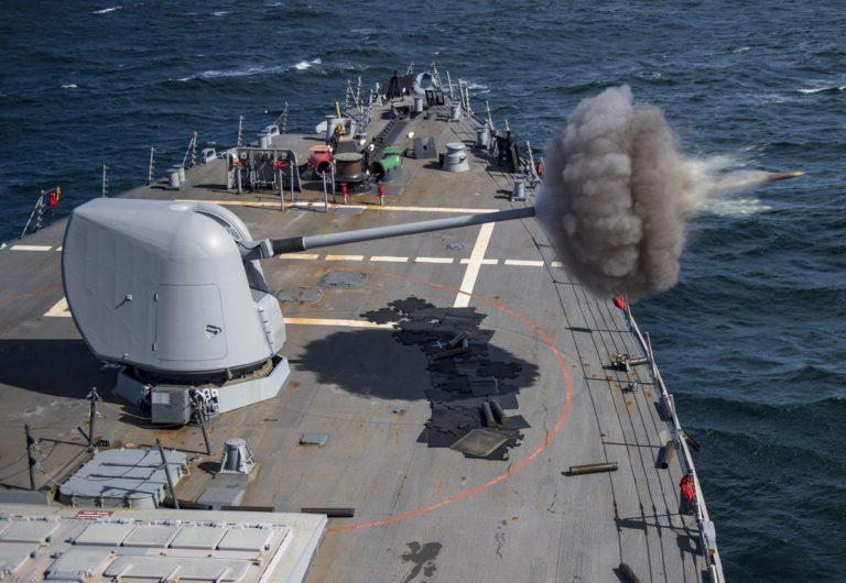 USS Ross Conducts Live-Fire Exercises with the Royal Moroccan Navy