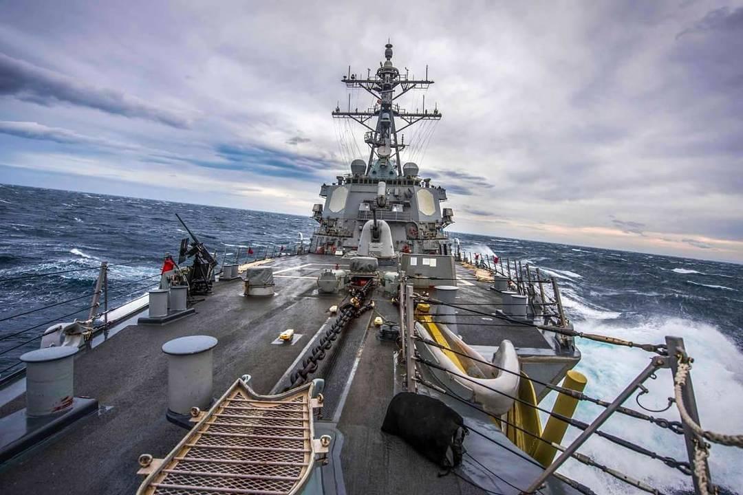 USS Carney departs Alexandria, Egypt