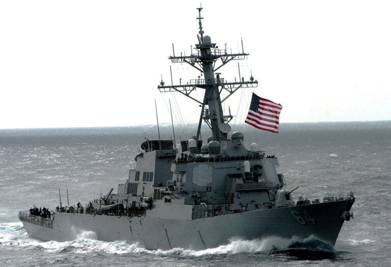 USS Carney Departs Brindisi, Italy