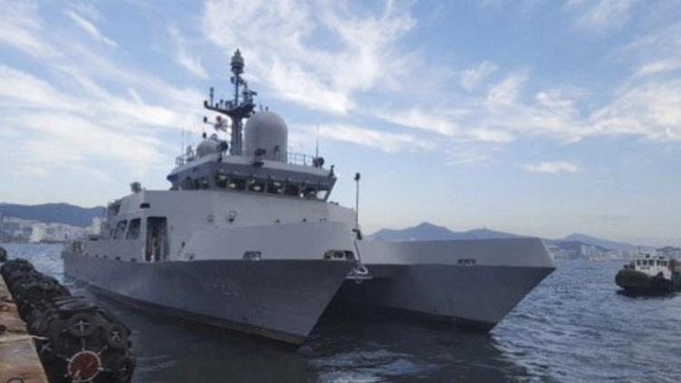 South Korean navy receives first multipurpose training vessel