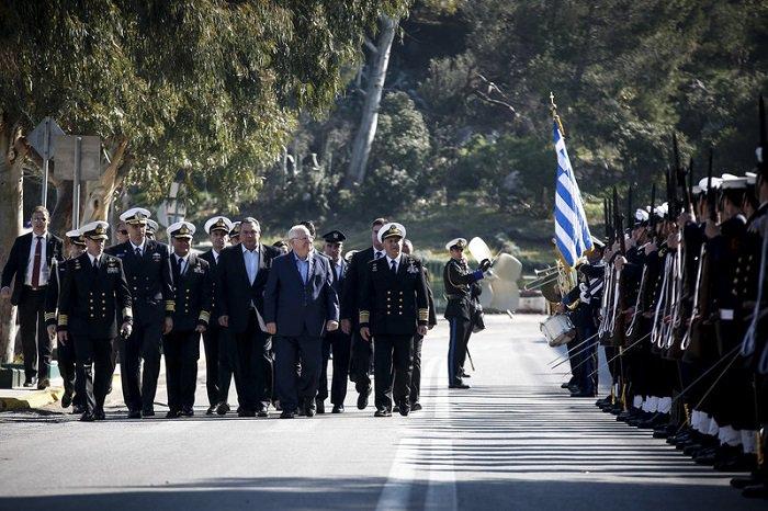 President of the Israel visited Greek Navy Fleet Headquarters at the Salamis Naval Base.