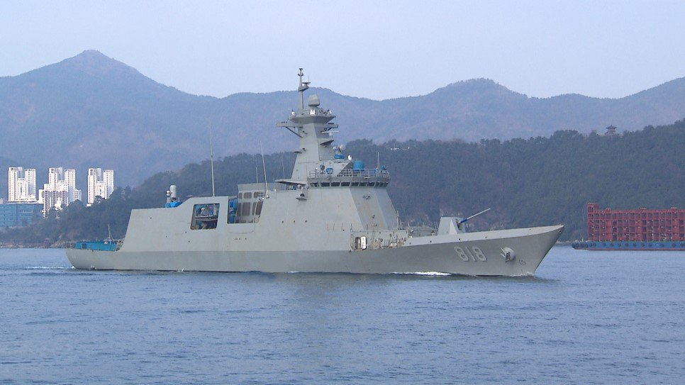 Republic of Korea Navy receives first FFX II frigate ROKS Daegu