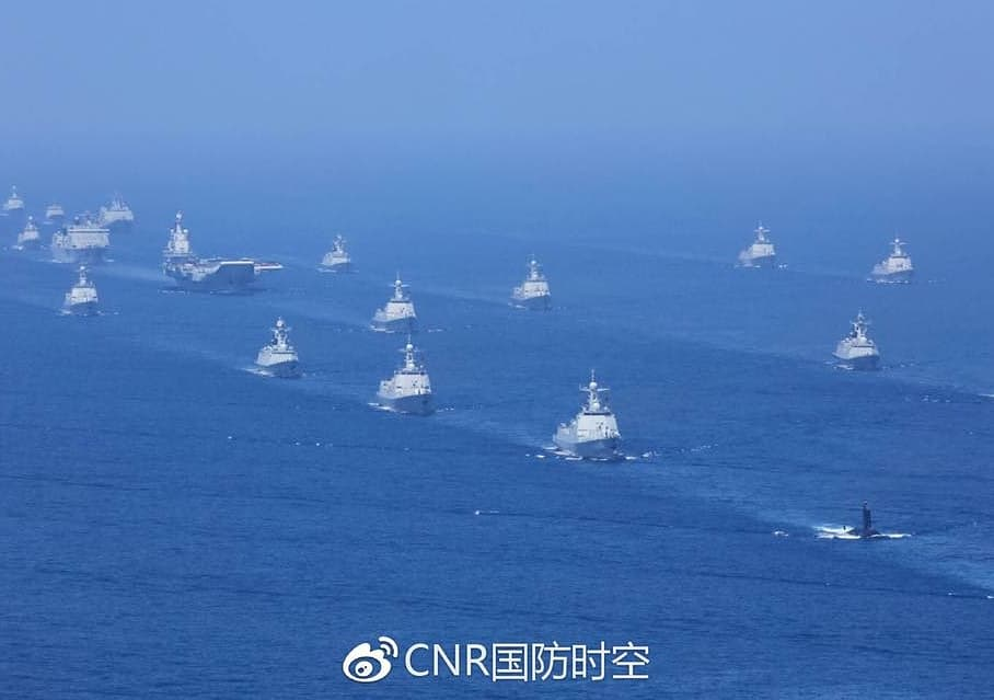 Chinese president Xi Jinping presided over the country's largest-ever naval parade and review