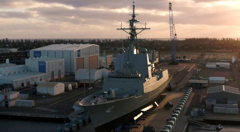 Australia's third Air Warfare Destroyer, SYDNEY 42, was launched Saturday (May 19) morning in Adelaide.