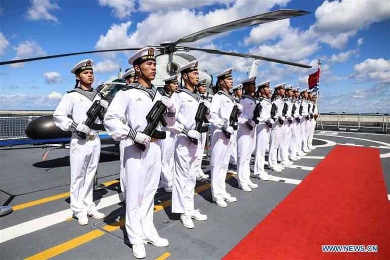 "Chinese frigate ""Binzhou"" portvisit to Gdynia, Poland."