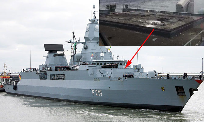 German Navy Frigate FGS SACHSEN missile accident