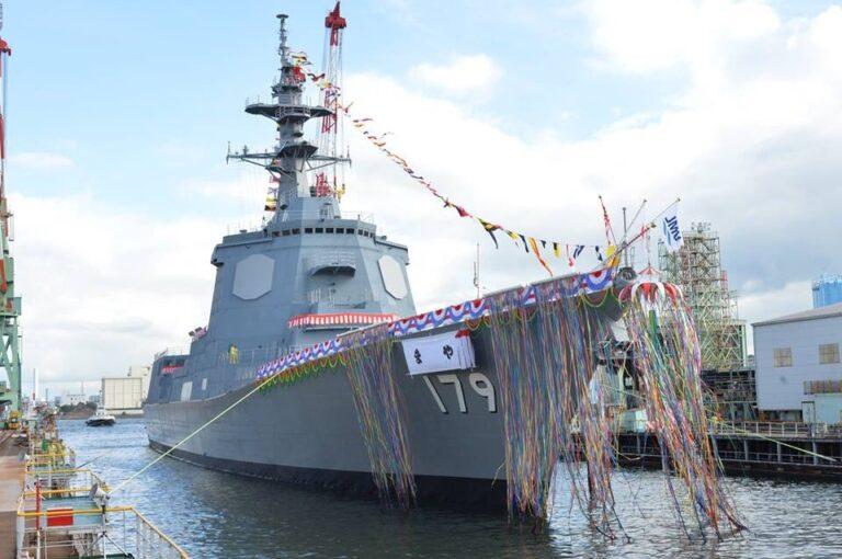"Japan launches first 27DDG-class AEGIS destroyer ""Maya"""