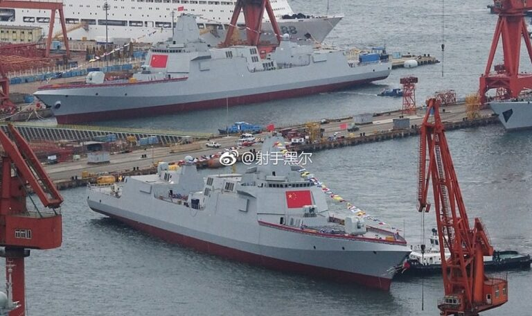 China launches next-generation destroyers expected to be armed with electromagnetic railgun