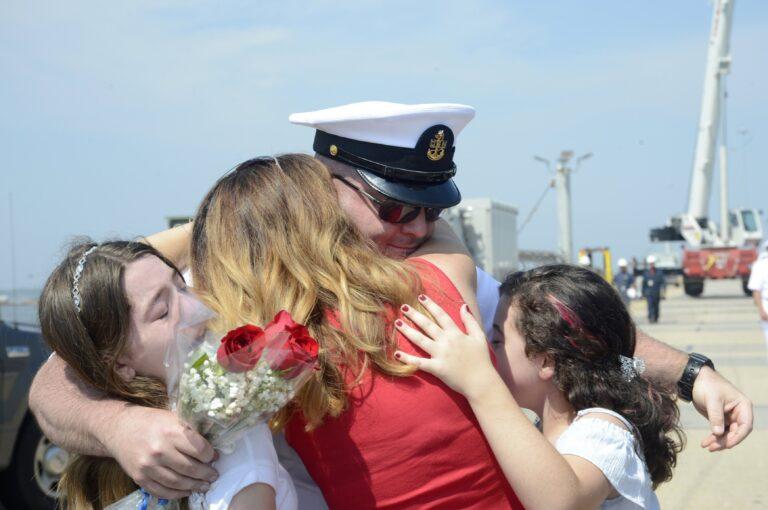 Virginia-class submarine USS JOHN WARNER SSN785 returned home to Norfolk after a six-month deployment