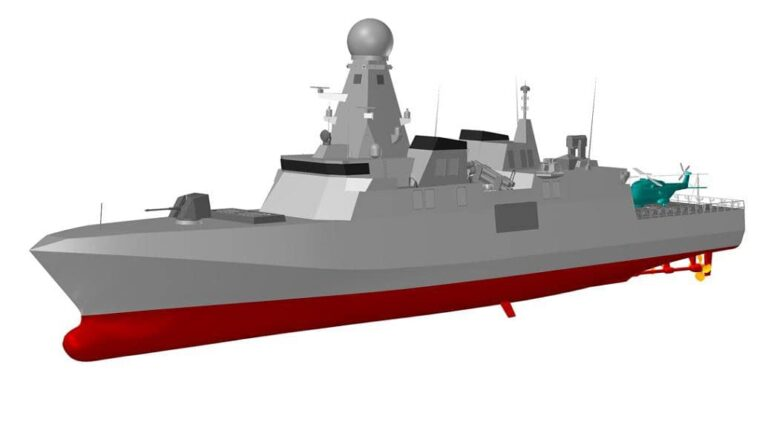 """The steel cutting ceremony of the first """"Doha"""" class corvette"""