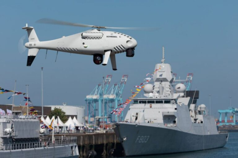 Schiebel Completes S-100 Trials for Belgian Navy