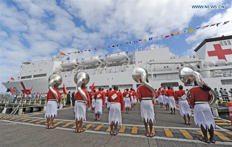 Chinese naval hospital ship Ark Peace starts visit to Fiji