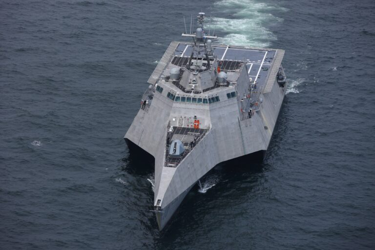 Austal's Littoral Combat Ship Charleston (LCS 18) completes acceptance trials for the US Navy.