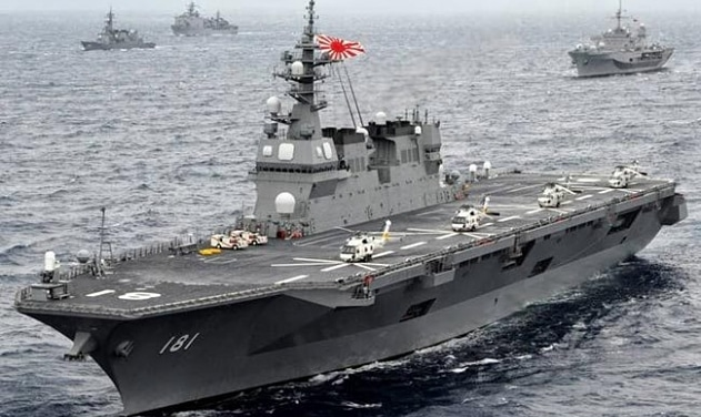 Japan sending its largest destroyer to South China Sea and Indian Ocean.