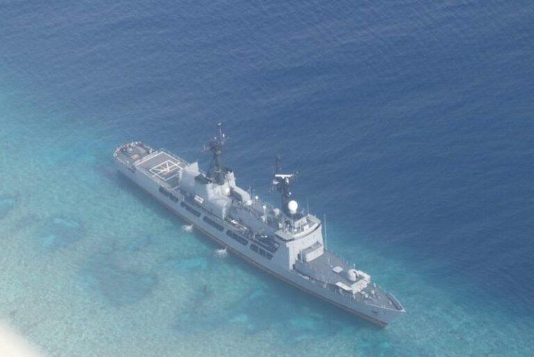 The Philippine Navy's BRP Gregorio del Pilar (FF-15) has run aground in the West Philippine Sea