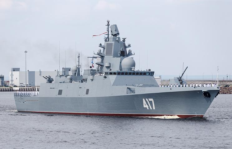 Frigate Admiral Gorshkov underway for combat training