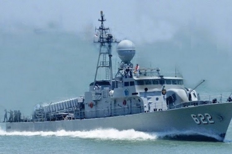 Indonesian fast missile boat KRI Rencong-622 catches fire in Papua waters