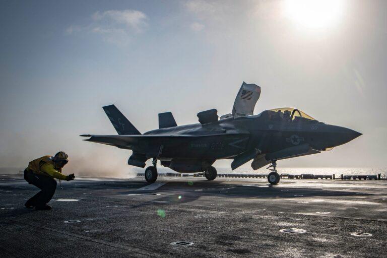 USMC F-35B Conducts First Combat Strike in U.S.CENTCOM AOR