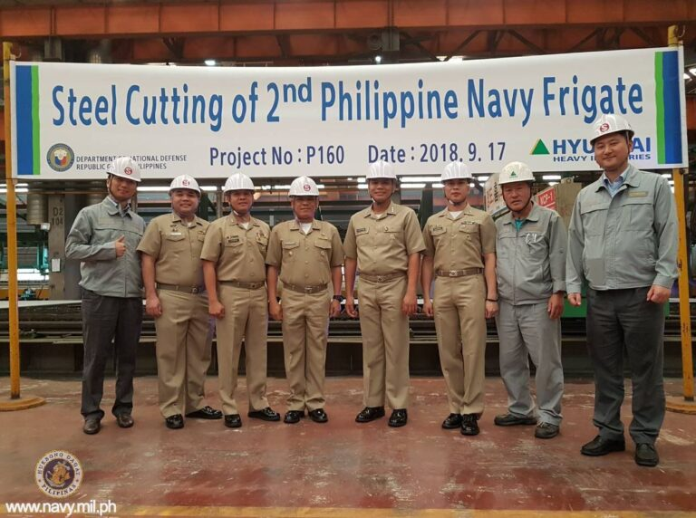 S. Korea shipbuilder cuts steel for PH Navy's 2nd guided-missile frigate