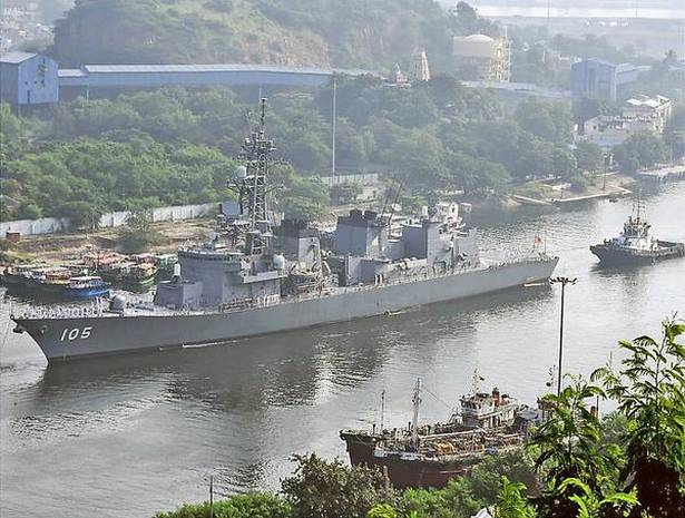 JMSDF Ships Kaga and Inazuma arrived in Visakhapatnam, India.