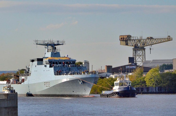 HMS Tamar is launched as HMS Medway gears up for maiden voyage