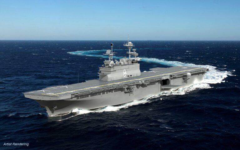 Huntington Ingalls Industries Starts Fabrication of Amphibious Assault Ship Bougainville (LHA 8)