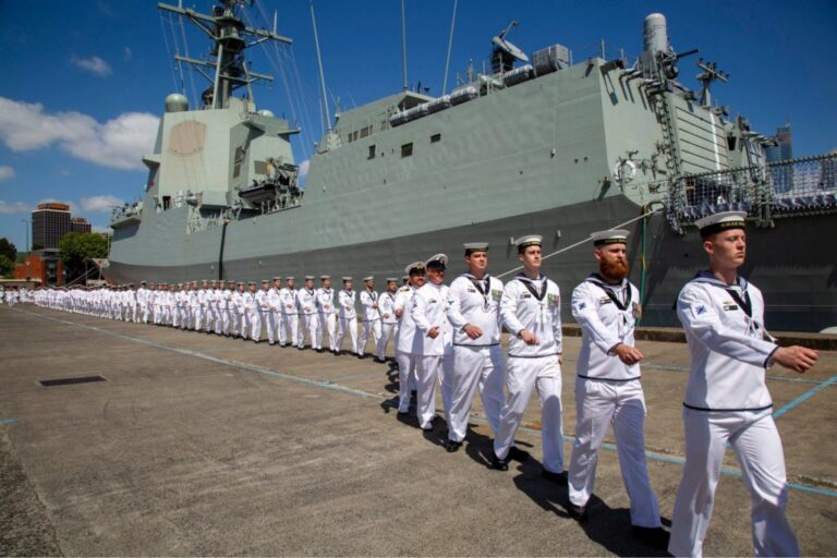 The Royal Australian Navy commissioned the guided missile destroyer HMAS Brisbane