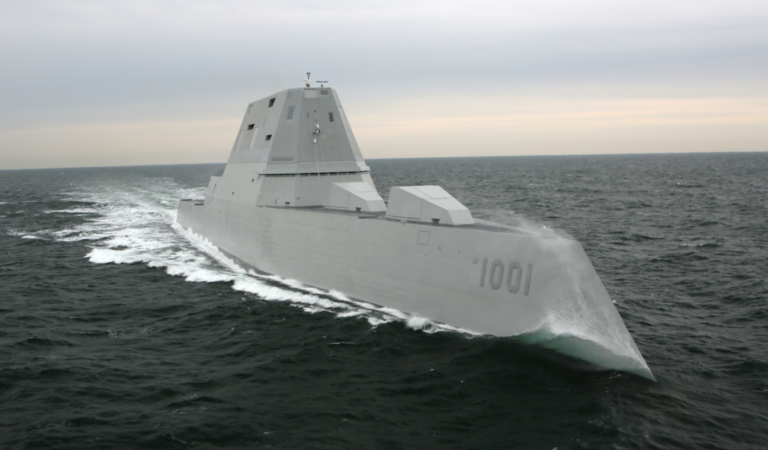 The future USS Michael Monsoor Leaves BIW for California