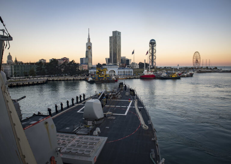 USS Donald Cook arrives in Batumi, Georgia