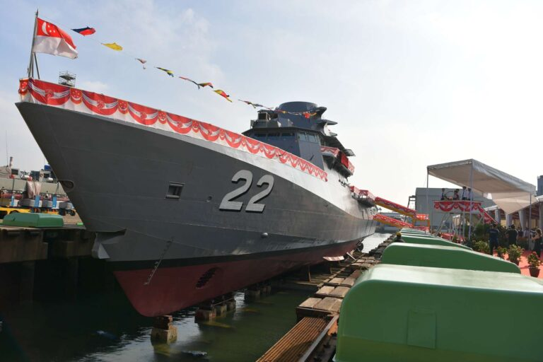Singapore Navy Launches Final Littoral Mission Vessel, Fearless