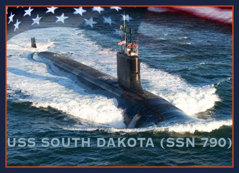 USS South Dakota was commissioned today (Feb 2) at the U.S. Naval Submarine Base in Groton, Connecticut.
