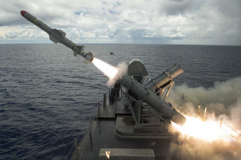 Boeing has tested new sensors on Harpoon missile