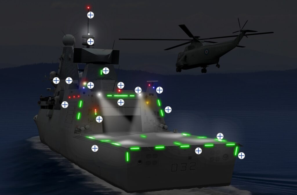 visual landing - naval post