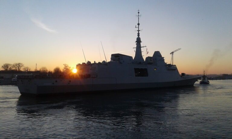 The 6th FREMM frigate's construction ended.