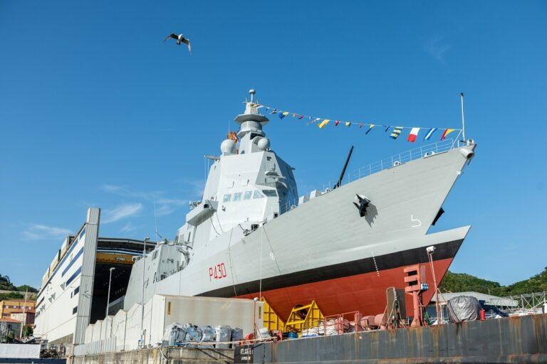 "The Italian Multipurpose Offshore Patrol Ship ""Thaon Di Revel"" launched in Muggiano"